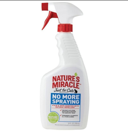 Nature's Miracle Just For Cats No More Spraying Spray 24oz Bottle