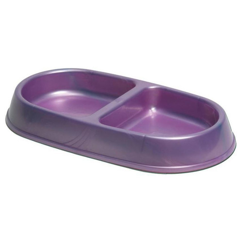 Petmate Small Lightweight Double Diner Pet Bowl