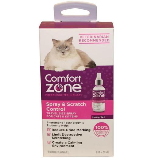 Comfort Zone Spray & Scratch Control Calming Cat Spray 2oz Bottle