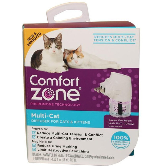 Comfort Zone Multi-Cat Diffuser For Cats & Kittens 1 Pack