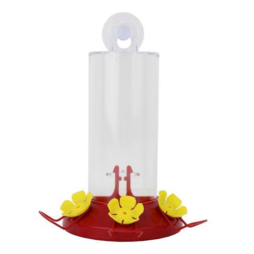 Perky Pet Clear/Red Base Acrylic/Plastic Window Hummingbird Feeder