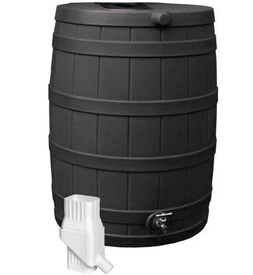 Rain Wizard Black Rain Barrel 50 Gallon