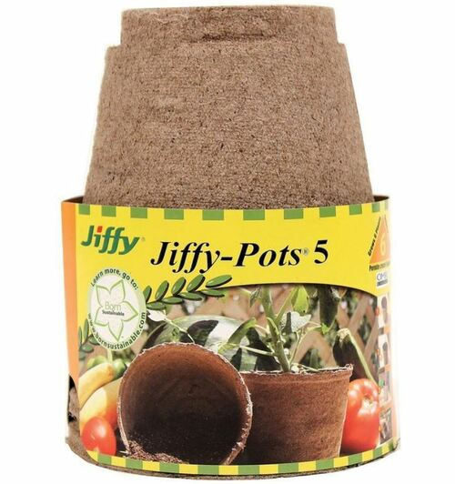 "Jiffy-Pots Seed Starters 5"" 6 Pack"