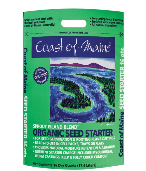 Coast Of Maine Sprout Island Organic Seed Starter 16 QT