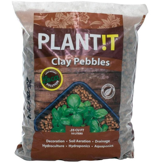 Hydrofarm Plant!t Clay Pebbles .35 CU FT