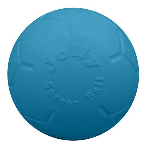 "Jolly Pets 8"" Ocean Blue Soccer Ball Dog Toy"
