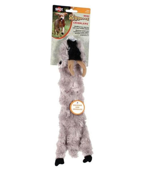 """Ethical Pet Spot 14"""" Skinneeeez Crinkler Goat Dog Toy"""