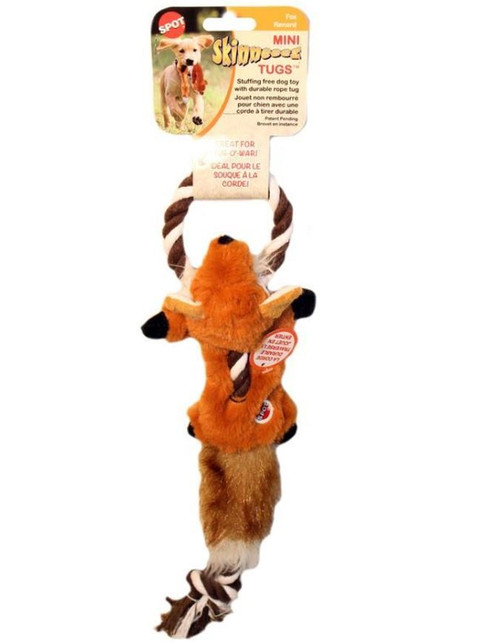 "Ethical Pet Spot Skinneeez 23"" Fox Tug Dog Toy"