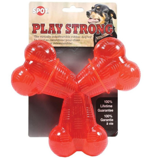 """Ethical Pet Spot 6"""" Play Strong Rubber Trident Dog Toy"""