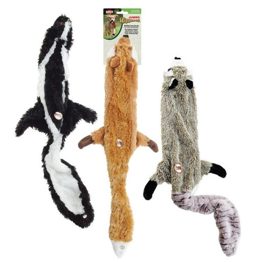 "Ethical Pet Spot 36"" Assorted Jumbo Plush Skinneeez Dog Toy"