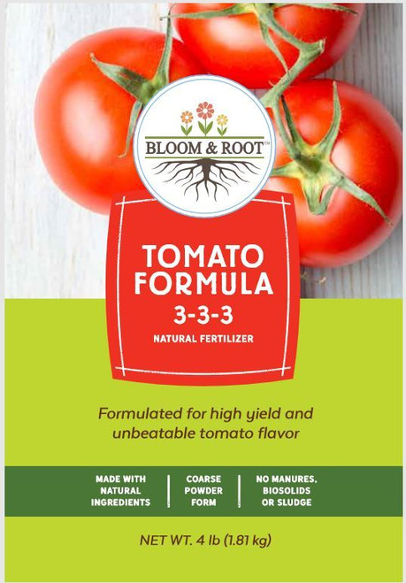 Bloom & Root Natural Tomato Formula Fertilizer 3-3-3, 4 Lbs