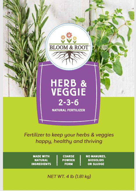 Bloom & Root Natural Herb & Veggie Fertilizer 2-3-6