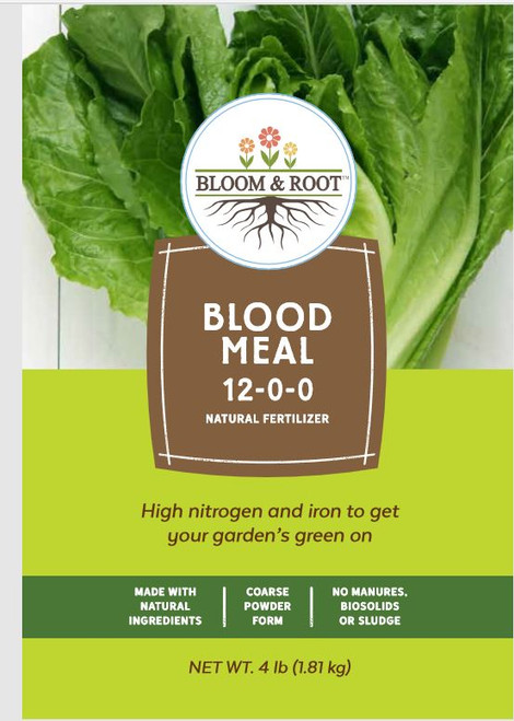 Bloom & Root Natural Blood Meal Fertilizer 12-0-0, 4 Lbs
