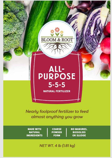 Bloom and Root Natural All-Purpose Fertilizer 5-5-5