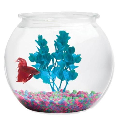 Kollercraft Aqua Accents Round Plastic Fish Bowl 2 Gallon