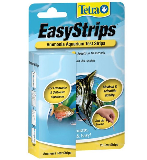 Tetra EasyStrips Aquarium Ammonia Test Kit 25 Pack