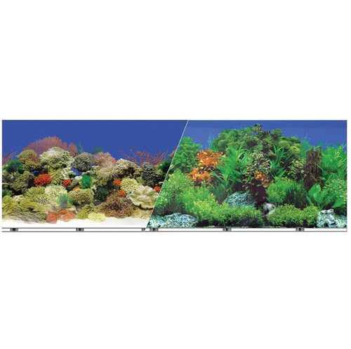 Easy Catch Double-Sided Garden/Carribbean Coral Aquarium Background