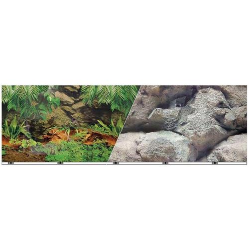 Easy Catch Double-Sided Rainforest/Boulder Aquarium Background