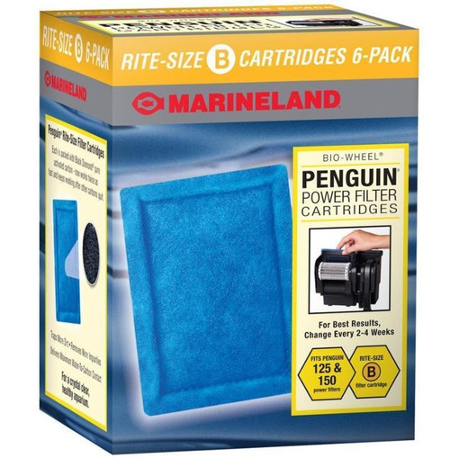 Marineland Bio-Wheel Penguin Rite-Size B Filter Cartridge 6 Pack