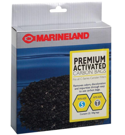 Marineland C-Series Canister Carbon Bags Filter Media 2 Pack