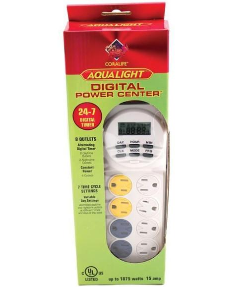 Coralife Aqualight Power Center 24 Hr Digital Timer 15 AMP