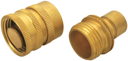 """Landscapers Select 3/4"""" Brass Hose Connector"""