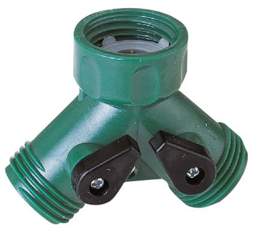 Landscapers Select Plastic Y-Connector Hose Connector With Shut Off