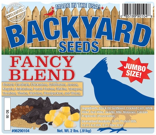 Backyard Seeds Fancy Blend Seed Cake, 2Lb