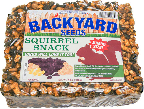 Backyard Seeds Squirrel Snack Seed Cake, 2Lb