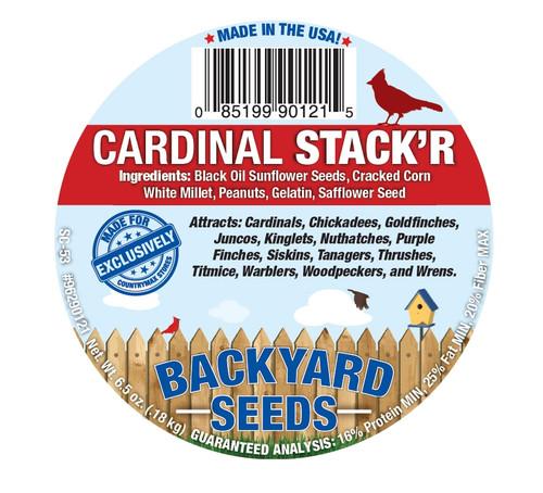 Backyard Seeds Cardinal Stack'r Seed Cake