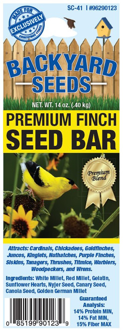 Backyard Seeds Premium Finch Seed Bar, 14oz