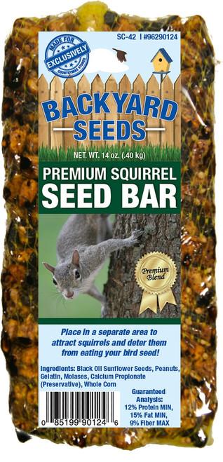 Backyard Seeds Premium Squirrel Seed Bar, 14oz