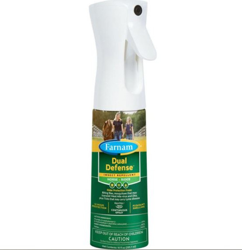 Dual Defense Insect Repellent Spray For Horse + Rider, 10oz