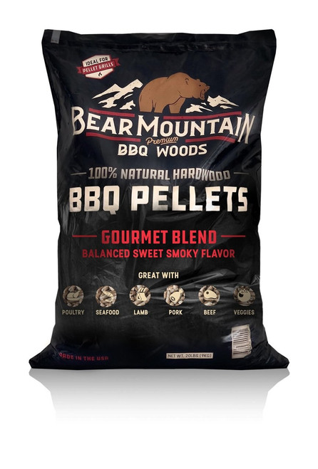 Bear Mountain BBQ Wood Pellets Gourmet Blend, 20Lb Bag
