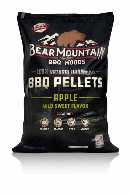 Bear Mountain BBQ Wood Pellets Apple, 20Lb Bag