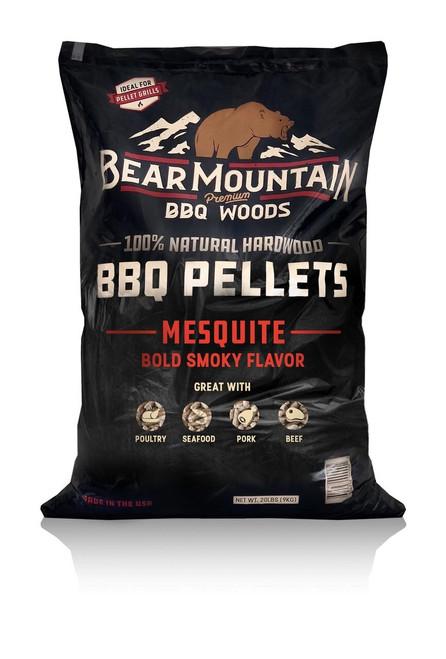 Bear Mountain BBQ Wood Pellets Mesquite, 20Lb Bag