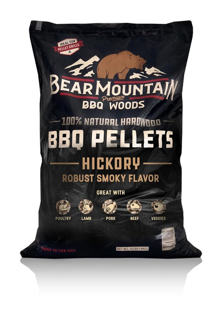Bear Mountain BBQ Wood Pellets Hickory, 20Lb Bag