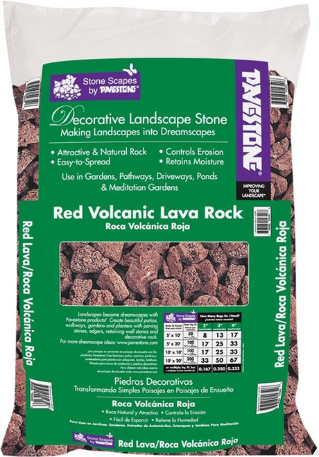 Pavestone Decorative Lava Rock, Red