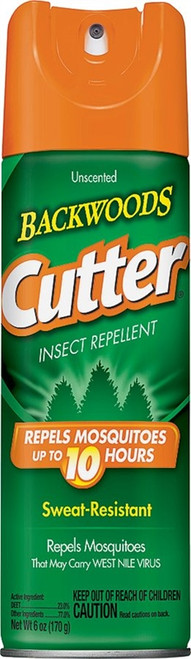 Cutter Backwoods Insect Repellent, 6oz Aerosol Can
