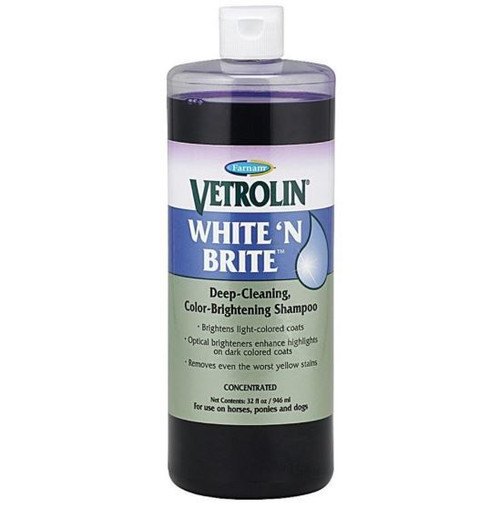 Farnam Vetrolin White N Brite Color Brightening Shampoo, 32oz