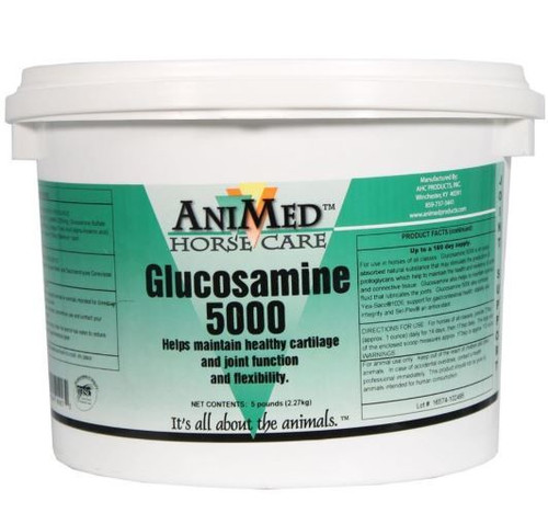 Animed Glucosamine 5000 Joint Health Supplement For Horses, 5 Lbs