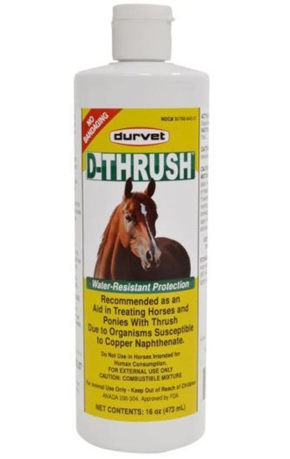 Durvet D-Thrush Hoof Treatment, 16 Oz