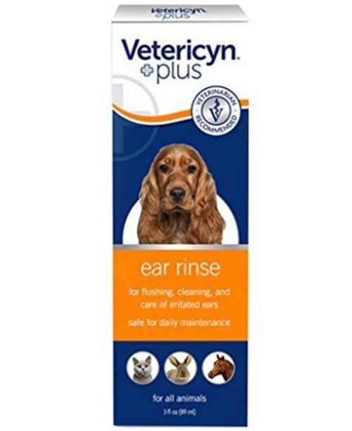 Vetericyn Plus All Animal Ear Rinse, 3 Oz