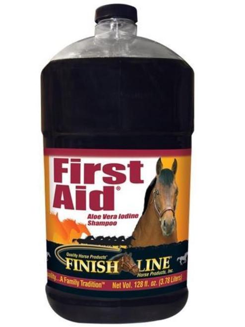 Finish Line First Aid Aloe Vera Iodine Equine Shampoo, 128oz