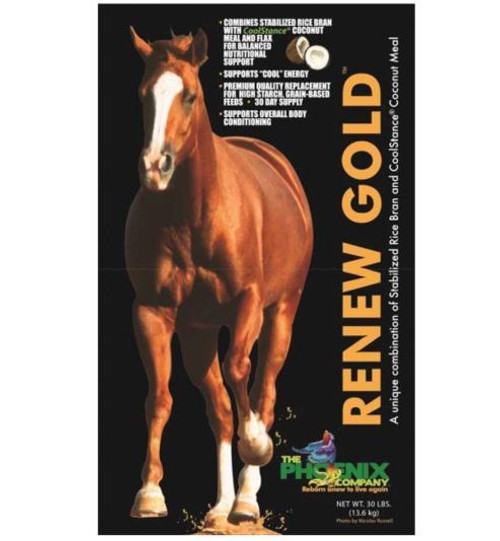Manna Pro Renew Gold Nutritional Supplement For Horses, 30 Lb Bag