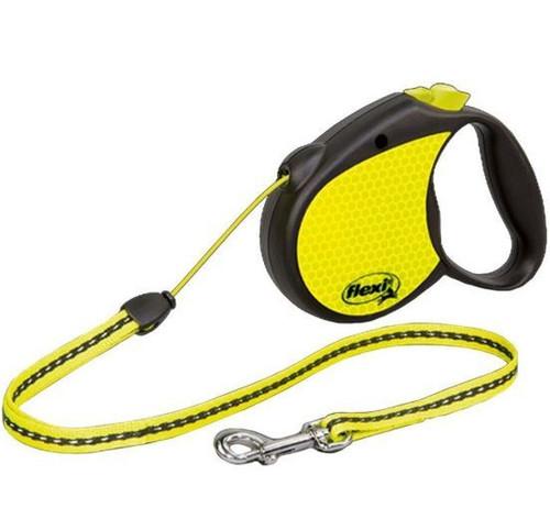 Flexi Neon Yellow Reflect Retractable Leash