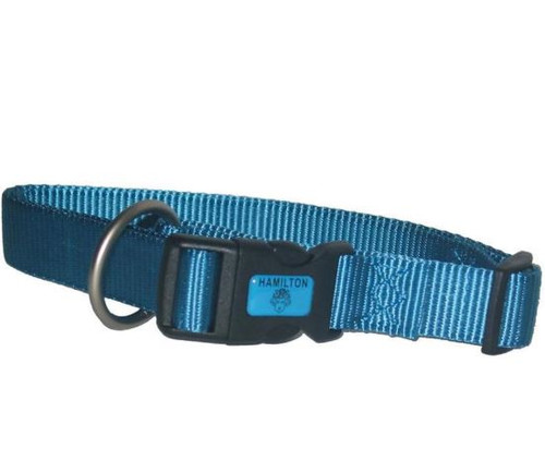 Hamilton Adjustable Dog Collar, Ocean