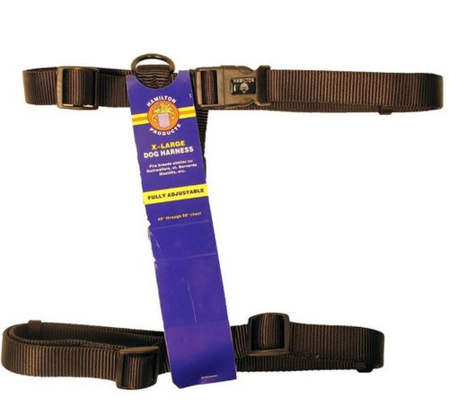 Hamilton Adjustable Dog Harness, Black, Extra Large