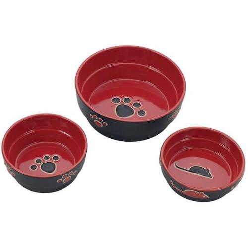 Fresco Dog Dish, Red