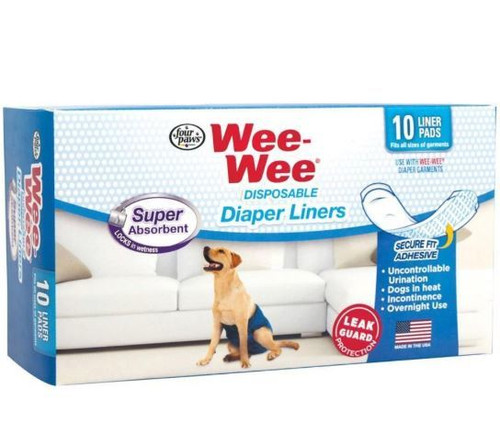 Four Paws Wee-Wee Disposable Diaper Liners, 10 Pack